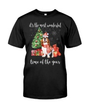 The Most Wonderful Xmas - Basset Hound Classic T-Shirt front