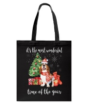 The Most Wonderful Xmas - Basset Hound Tote Bag tile
