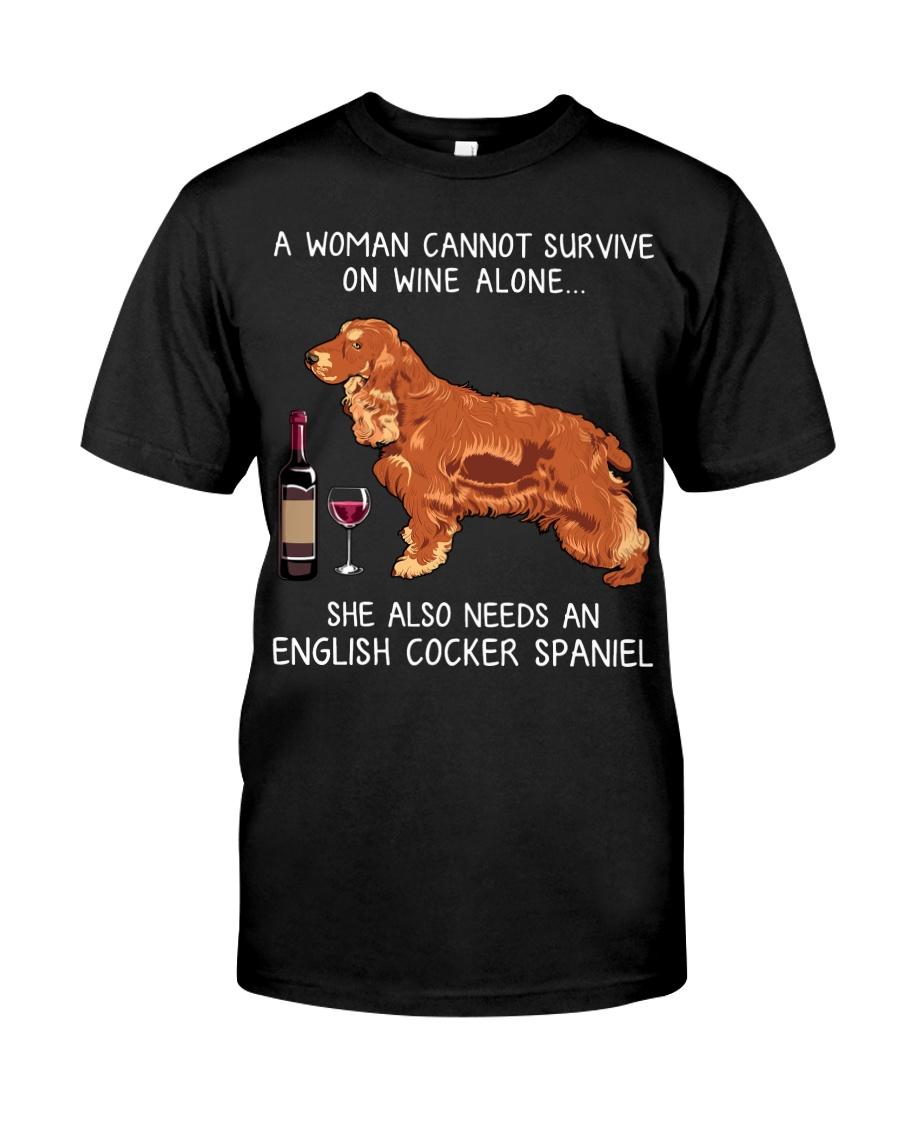 Wine and English Cocker Spaniel Classic T-Shirt