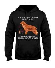 Wine and English Cocker Spaniel Hooded Sweatshirt thumbnail