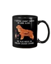 Wine and English Cocker Spaniel Mug thumbnail