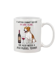 Wine and Jack Russell Terrier 4 Mug thumbnail