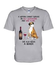 Cannot Survive Alone - Boxer V-Neck T-Shirt thumbnail