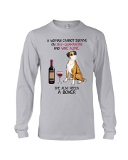 Cannot Survive Alone - Boxer Long Sleeve Tee thumbnail