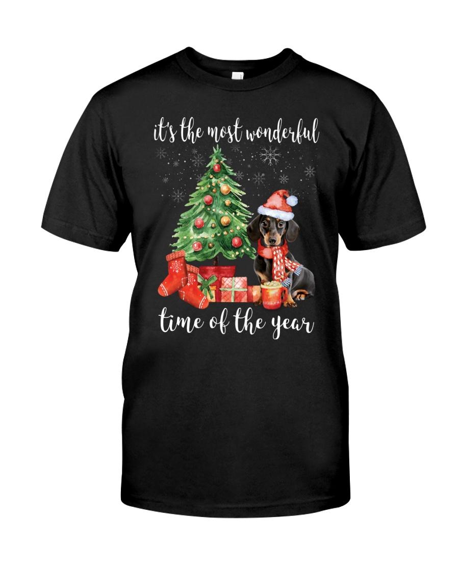 The Most Wonderful Xmas - Dachshund Classic T-Shirt