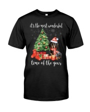 The Most Wonderful Xmas - Dachshund Classic T-Shirt front