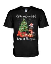 The Most Wonderful Xmas - Dachshund V-Neck T-Shirt thumbnail