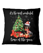 The Most Wonderful Xmas - Dachshund Square Pillowcase thumbnail