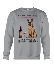 Wine and German Shepherd 2 Crewneck Sweatshirt thumbnail
