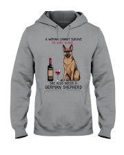 Wine and German Shepherd 2 Hooded Sweatshirt thumbnail