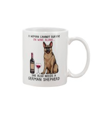 Wine and German Shepherd 2 Mug thumbnail