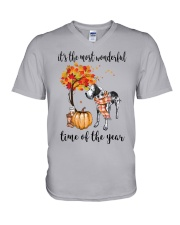 The Most Wonderful Time - Great Dane V-Neck T-Shirt thumbnail