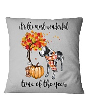 The Most Wonderful Time - Great Dane Square Pillowcase thumbnail