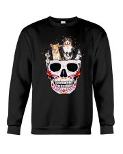 Half Skull Border Collie  Crewneck Sweatshirt thumbnail