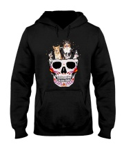 Half Skull Border Collie  Hooded Sweatshirt thumbnail