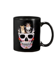 Half Skull Border Collie  Mug tile