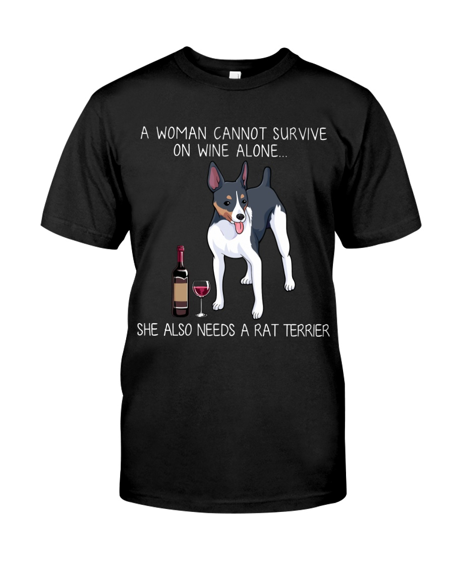Wine and Rat Terrier Classic T-Shirt
