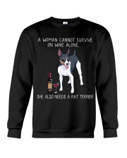 Wine and Rat Terrier Crewneck Sweatshirt thumbnail