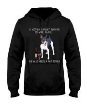 Wine and Rat Terrier Hooded Sweatshirt thumbnail