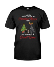 Christmas Movies and Great Dane Classic T-Shirt front