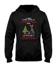 Christmas Movies and Great Dane Hooded Sweatshirt thumbnail