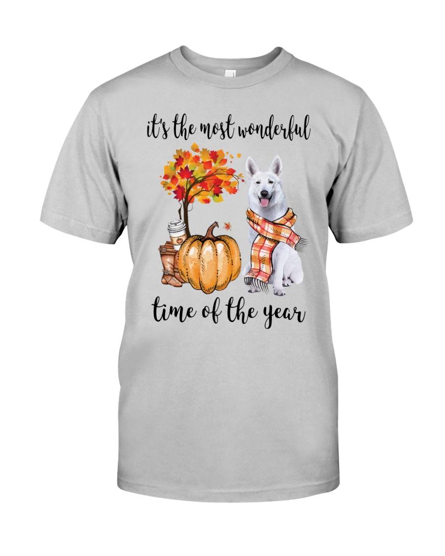 The Most Wonderful Time - White German Shepherd Classic T-Shirt