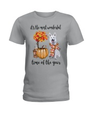 The Most Wonderful Time - White German Shepherd Ladies T-Shirt thumbnail