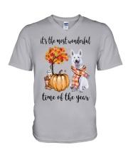 The Most Wonderful Time - White German Shepherd V-Neck T-Shirt thumbnail