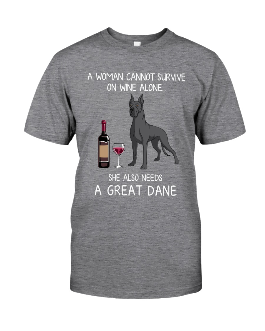 Wine and Great Dane 3 Classic T-Shirt