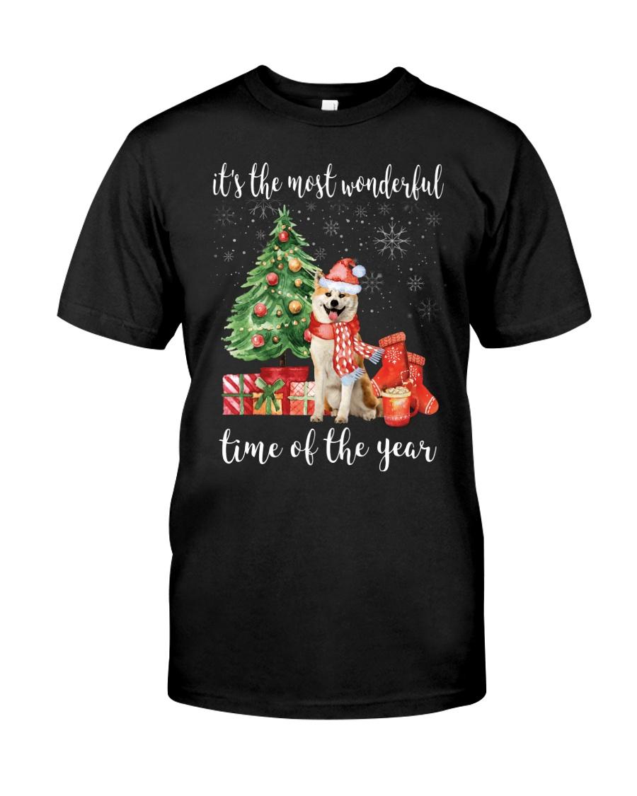 The Most Wonderful Xmas - Akita Classic T-Shirt