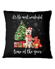 The Most Wonderful Xmas - Akita Square Pillowcase thumbnail