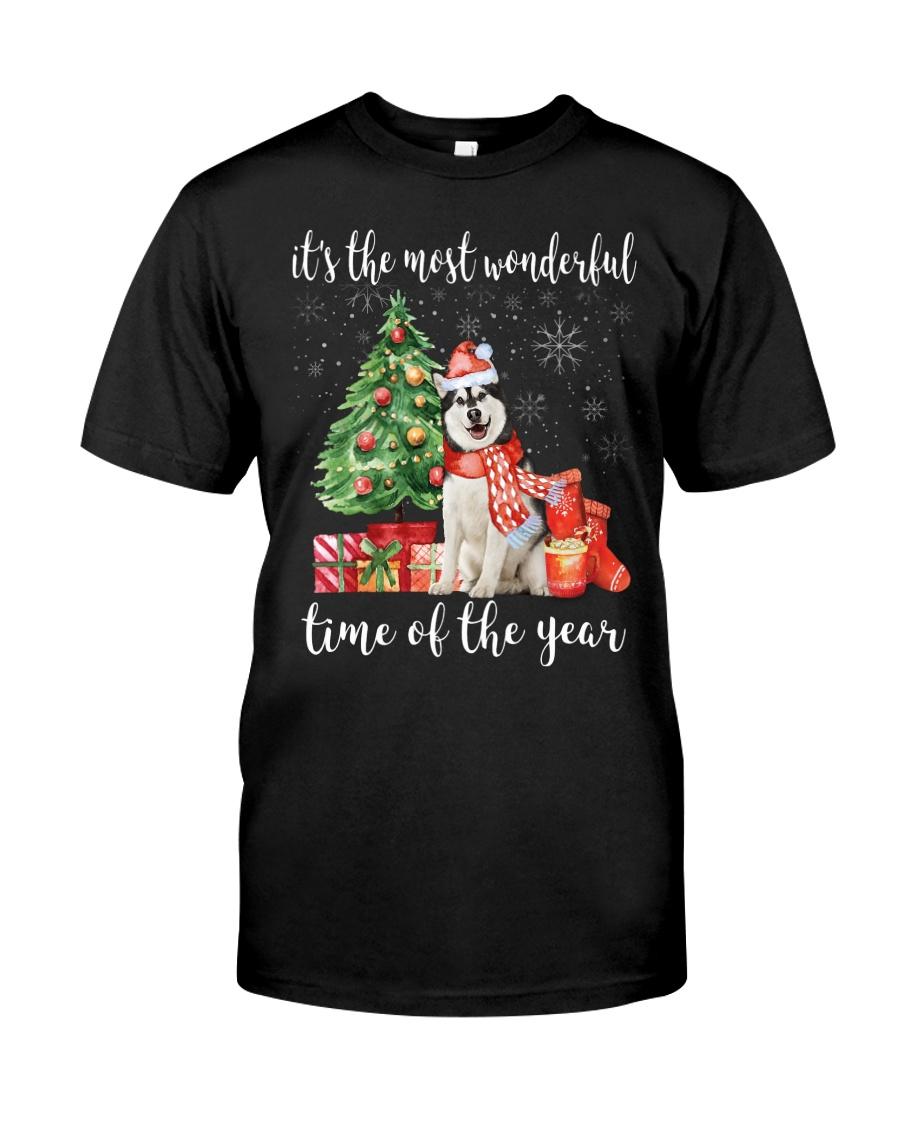 The Most Wonderful Xmas - Alaskan Malamute Classic T-Shirt