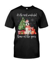 The Most Wonderful Xmas - Alaskan Malamute Classic T-Shirt front