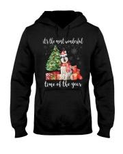 The Most Wonderful Xmas - Alaskan Malamute Hooded Sweatshirt thumbnail