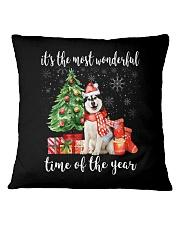 The Most Wonderful Xmas - Alaskan Malamute Square Pillowcase thumbnail