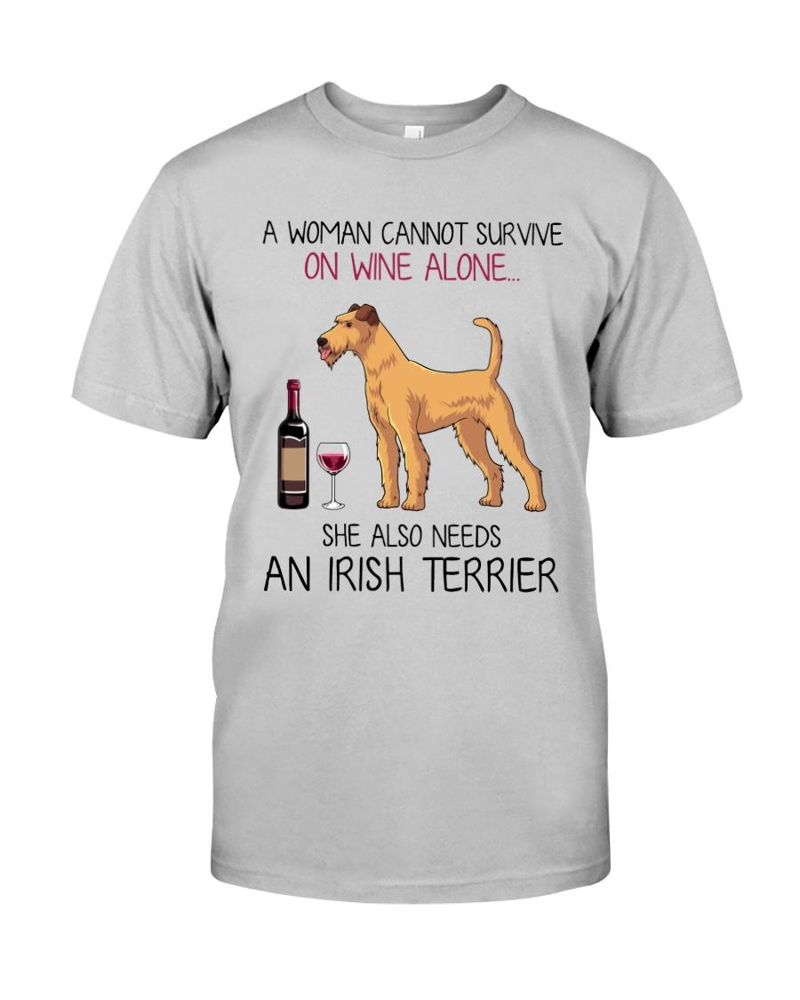 Wine and Irish Terrier 2 Classic T-Shirt