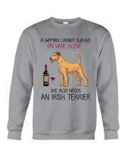 Wine and Irish Terrier 2 Crewneck Sweatshirt thumbnail