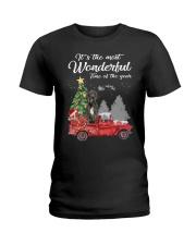 Wonderful Christmas with Truck - Great Dane Ladies T-Shirt thumbnail
