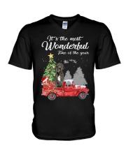 Wonderful Christmas with Truck - Great Dane V-Neck T-Shirt thumbnail