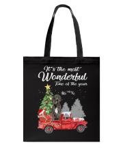 Wonderful Christmas with Truck - Great Dane Tote Bag thumbnail