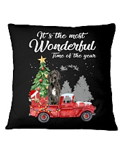 Wonderful Christmas with Truck - Great Dane Square Pillowcase thumbnail