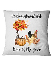The Most Wonderful Time - Chicken Square Pillowcase thumbnail