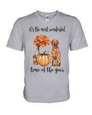 The Most Wonderful Time - Vizsla V-Neck T-Shirt thumbnail