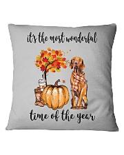 The Most Wonderful Time - Vizsla Square Pillowcase thumbnail