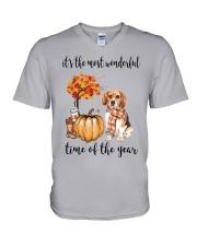 The Most Wonderful Time - Beagle V-Neck T-Shirt thumbnail