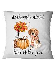 The Most Wonderful Time - Beagle Square Pillowcase thumbnail