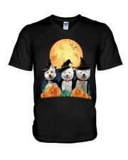 Howloween Westie V-Neck T-Shirt thumbnail