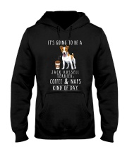 Jack Russell Terrier Coffee and Naps Hooded Sweatshirt thumbnail