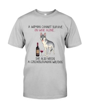 Wine and Czechoslovakian Wolfdog 2 Classic T-Shirt front