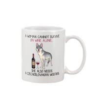 Wine and Czechoslovakian Wolfdog 2 Mug thumbnail